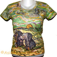 PEASANTS New Van Gogh Art Print T-shirt Misses S M L XL