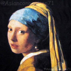 Girl with Pearl Earring Vermeer Art Print PN T Shirt Misses Short Sleeve S M L XL