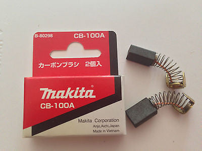 MAKITA GENUINE CARBON BRUSH SET CB-100 SUIT 9006N/JS3200/JN3200/9207SPB/9218PBL - HappyGreenStore