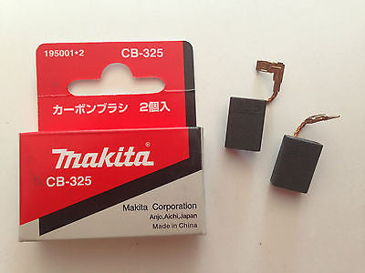 MAKITA 100% GENUINE CARBON BRUSH SET CB-325A TO SUIT 9553B/9558NB/GD0601/HR2230 - HappyGreenStore
