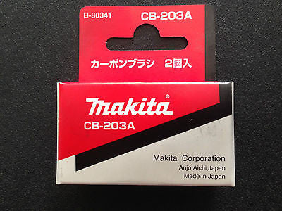 MAKITA 100% GENUINE CARBON BRUSH CB-203 SUIT MAKTEC MT240/MT360/RP2300FC/2414NB - HappyGreenStore