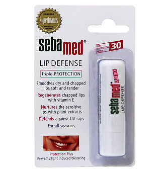 SebaMed Lip Defense Defence Triple Protection Smoothen Dry Chapped Lip/SPF30 UV - HappyGreenStore