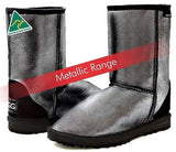Classic Short UggBoots Metallic Metal Bomber Color Ugg Boots - Made In Australia - HappyGreenStore