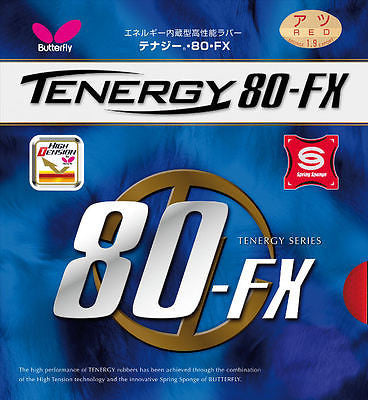 Butterfly Tenergy 80FX 80 FX 80-FX Rubber Table Tennis Ping Pong No Blade - HappyGreenStore
