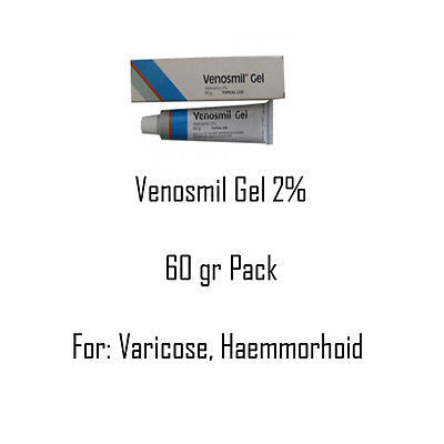 Venosmil Topical Gel FOR Varicose Vein/Venous insufficiency/Hemorrhoids/Piles - HappyGreenStore