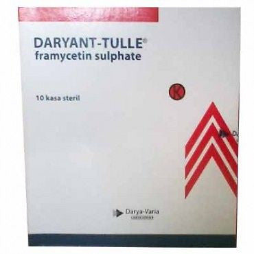 Daryant/Sofra Tulle Sterile Gauze Dressing Antibiotics - Burns/Cuts/Wounds/Ulcer - HappyGreenStore