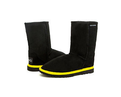 Black With a Twist Fluoro UggBoots UGG Boots -Aussie Sheepskin Made In Australia. 7 Colours to Choose - HappyGreenStore