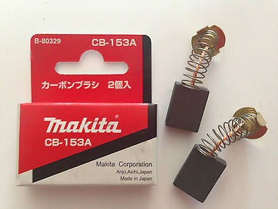 MAKITA GENUINE CARBON BRUSH SET CB-153A TO SUIT 2702/2012NB/1806B/1805N/5008MG - HappyGreenStore