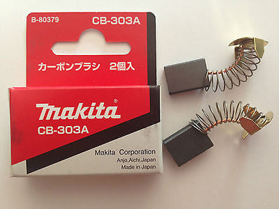 MAKITA GENUINE CARBON BRUSH CB-303 SUIT GV7000/UT2204/UB1101/9227C/PV7000C/6924N - HappyGreenStore