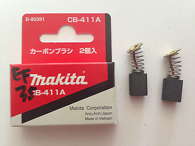 MAKITA GENUINE CARBON BRUSH CB-411 TO SUIT 3709/MT430/MT911/MT191/MT370/JR3050 - HappyGreenStore