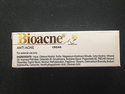 Bioacne Cream with Cetrimide + Resorcinol + Sulfur FOR Acne Prevention/Treatment - HappyGreenStore