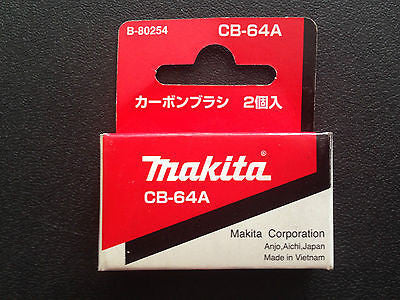 MAKITA GENUINE CARBON BRUSH SET CB-64A SUITS MAKITA SANDER 906/6412/6411/6802BV - HappyGreenStore