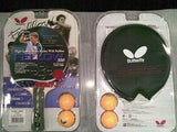 Butterfly Fellow 300/Fellow 200 Table Tennis Racket Bat + Case + Balls Ping pong - HappyGreenStore
