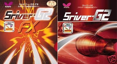 NEW Butterfly Table Tennis Rubber Sriver FX Red 2.1mm FREE SHIPPING
