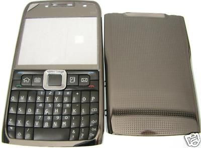 Nokia E71 E 71 COVER housing faceplate + Keypad Metal!! - HappyGreenStore