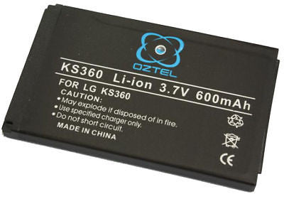 LG KS360 KS-360 battery +1 year warranty OZ- OZTEL - HappyGreenStore