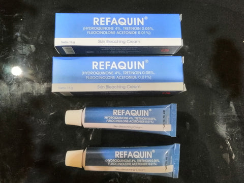 Refaquin Hydroquinone Skin Bleach Bleaching +Retinoic acid FOR Hyperpigmentation - HappyGreenStore