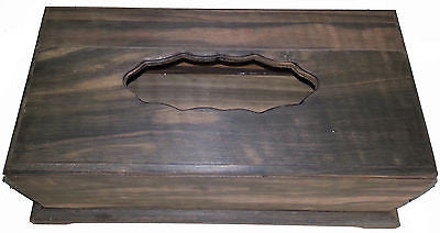 Varnished Big Rectangle Tissue Box Home Decor gift Made from Real Ebony Wood - HappyGreenStore