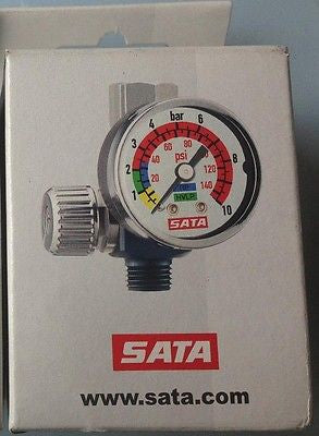 SATA Air Micrometer with Gauge SATA 27771 Air Regulator for Spray Gun Spray Gun - HappyGreenStore