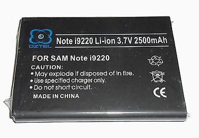 Factory Sealed Samsung Galaxy Note GT-N7000 N7000 i9220 battery +1 yr wrty OZTEL - HappyGreenStore