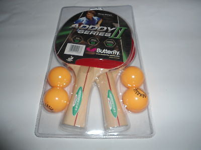 Butterfly addoy 2 player set racket table tennis Ping - HappyGreenStore