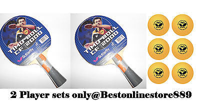 Butterfly CF 2000 Flared Carbon Racket Bat with rubbers Table Tennis + 6 balls - HappyGreenStore