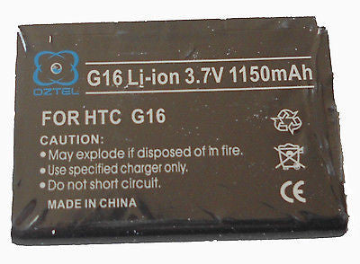 1 X HTC ChaCha G16 A810E G-16 Battery +1 year warranty OZTEL Factory Sealed - HappyGreenStore