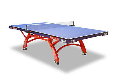 Double Fish 328 ITTF approved Rollaway Centrefold Table Tennis table +bats balls - HappyGreenStore