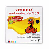 VERMOX Worm Parasite Killer Mebendazole JANSSEN - 4 X Fruity Chewable Tab GO!! - HappyGreenStore