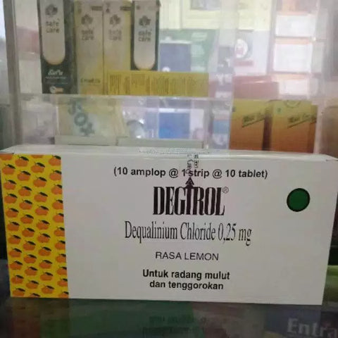 Degirol/Lemocin Lozenges Treat Sore Throat/Pharyngitis/Gingivitis/Periodontitis - HappyGreenStore