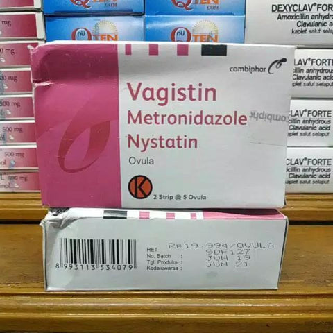 Vagistin Ovule Nystatin + Metronidazole FOR vaginitis/CANDIDA/TRICHOMONAS infect - HappyGreenStore