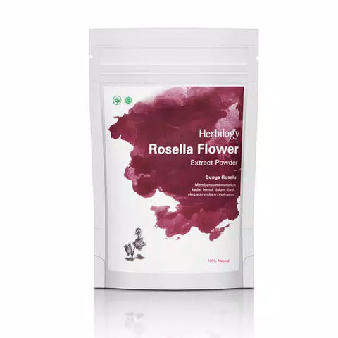 Herbal 100% Natural Nature Herbilogy Hibiscus (Rosella) Extract Powder Original No Soya - HappyGreenStore