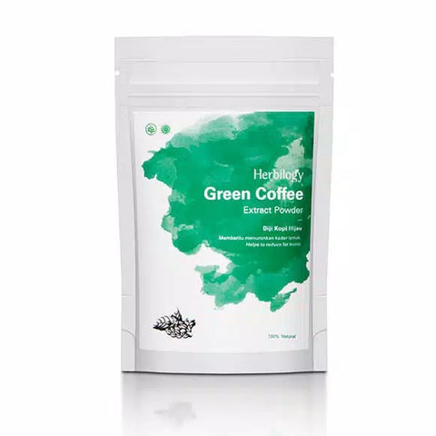 Herbal Natural Nature Herbilogy Green Coffee (Biji Kopi Hijau) Extract Powder - HappyGreenStore