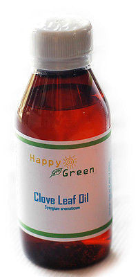 Happy Green 100% Pure Clove Leaf oil Perfect for Mould - Oil of Cloves Fresh lot - HappyGreenStore