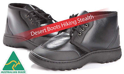 Desert Boots Hiking Stealth UggBoots Ugg Boot - water resistant napa leather Made in Australia - HappyGreenStore