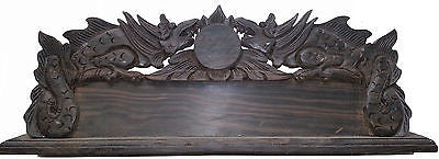 Varnished Balinese Dragon Sculpture Name & Position Board - Real Ebony Wood Bali - HappyGreenStore