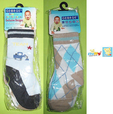 Fluffy Baby socks Unisex boys girls Cute newborn toddler 6-12 month 2 pairs pack - HappyGreenStore