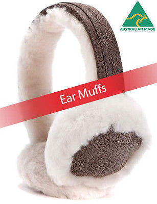 Extra Warm Ear Muffs -5 colors 100% pure luxurious Aussie Double Faced Sheepskin - HappyGreenStore