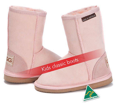 Kids Classic UggBoots Ugg Boots - 18-20cm tall boot -12 colors-Made in Australia - HappyGreenStore