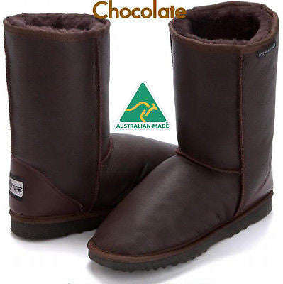Stealth Short Deluxe UggBoots Ugg Boots -25 cm boot with water resistant leather - HappyGreenStore
