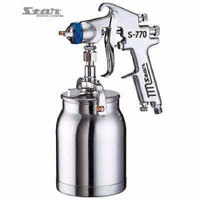Star S-770 Spray Gun Pro series (GUN+CUP) Gravity/Suction Paint 1.5/1.7/2/2.5 mm - HappyGreenStore