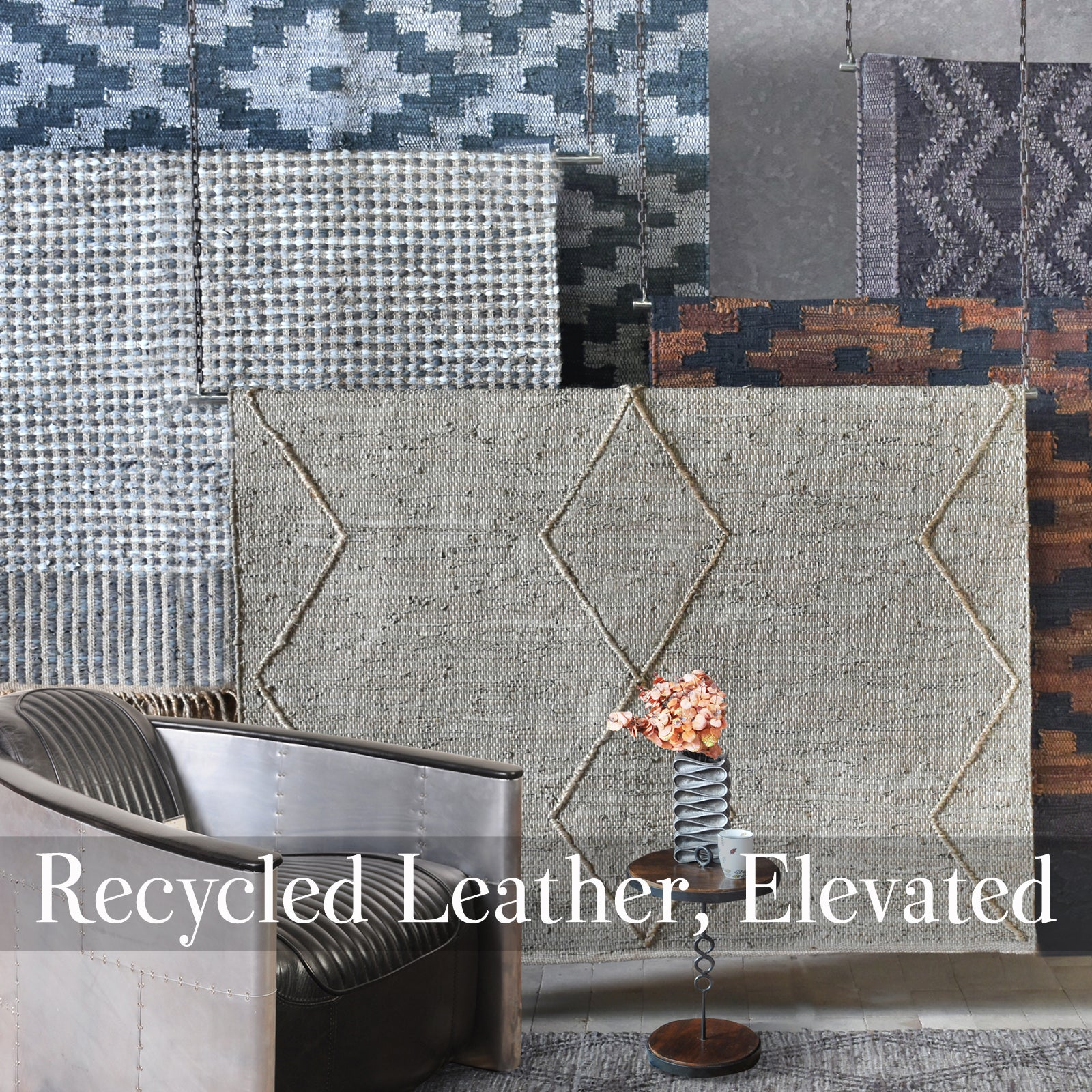Recycled Leather, Elevated Rugs India
