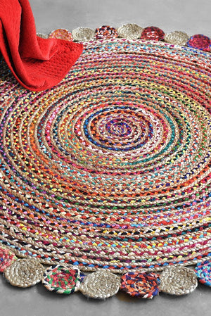 accra hemp rug in multi and natural color