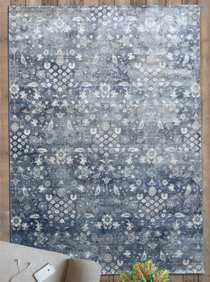 ASHVI Blue PP Polyester Rug Shop @ The Rug Republic