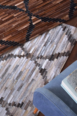althia hide rug in brown color