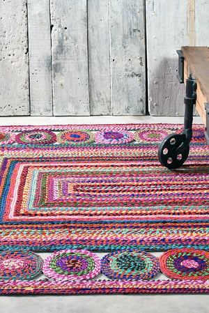 begonia recycled rug in multi color