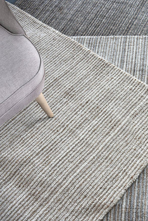 elia wool rug in charcoal color