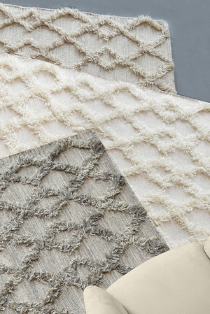 gerry wool rug in natural and ivory color