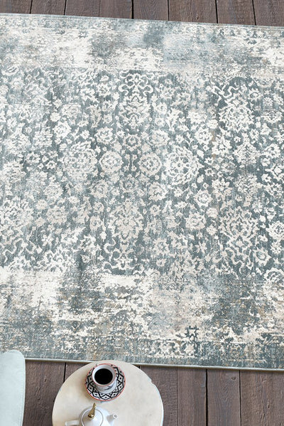 helena viscose rug in blue and grey color