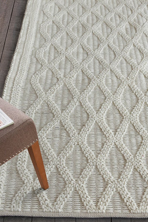 keddie wool rug in ivory color